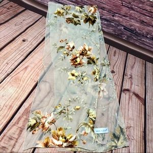 Anne Klein 10x57 Sheer Floral Rectangle Scarf